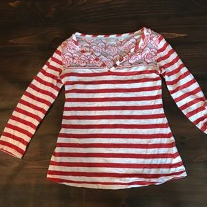Postmark for Anthropologie Mixed Top